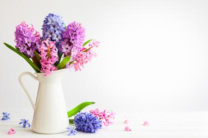 パステル系の色の花束