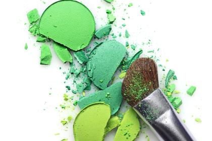 グリーンの絵の具と思しき