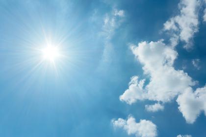 直射日光に注意