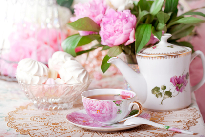 お茶と花束